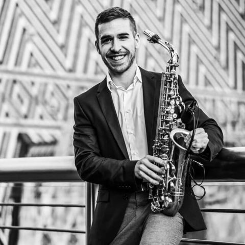 Portait: Saxophonist Saxo Ben, Live Act am WEDD CLUB, dem exklusives Clubbing für Hochzeitsdienstleister